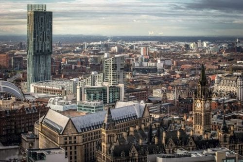 View of the city of Manchester
