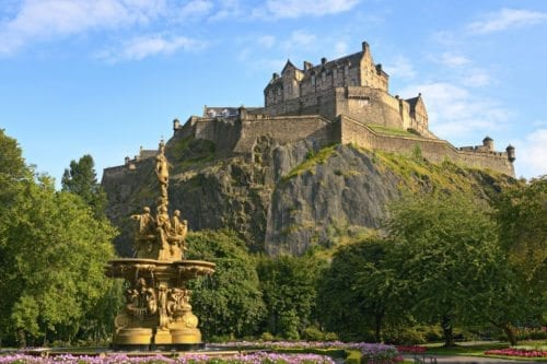 Edinburgh Castle during the summer