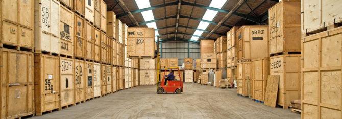Removal company storage facilities