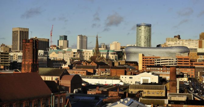 View of Birmingham. Removals Birmingham
