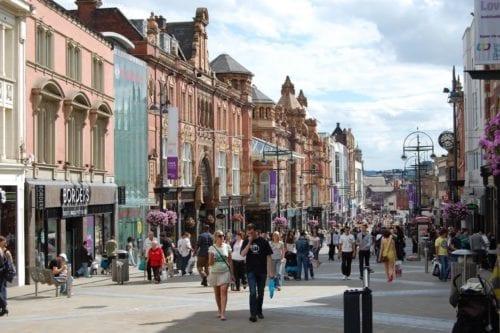 Leeds shopping street; Removals Leeds