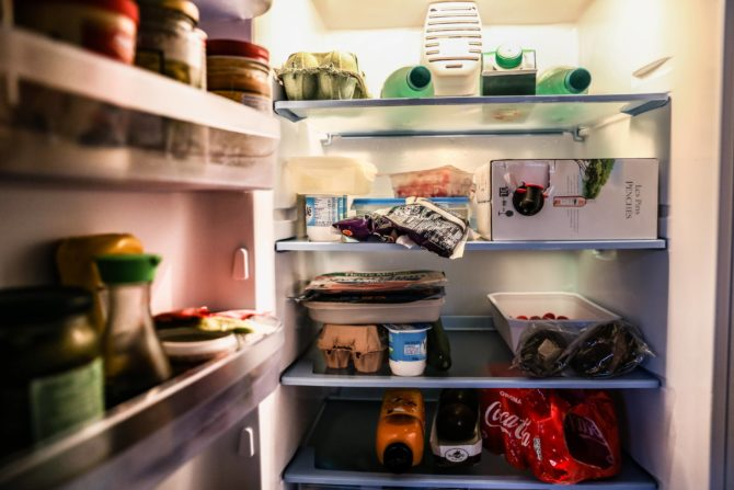 Fridge full of food; using up your food before moving house