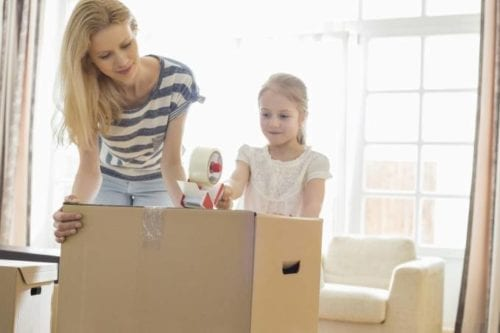 Packing and moving with children