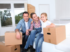 Moving with kids - packing together