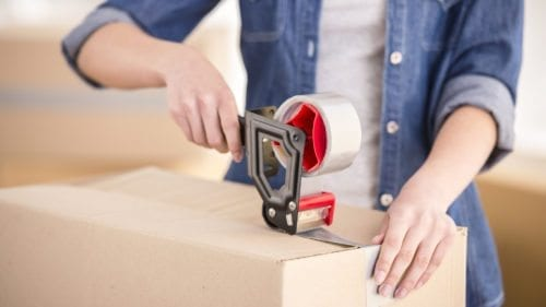 Packing tips: using tape to seal boxes