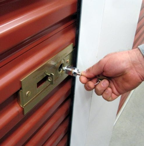 Using a cylinder lock to keep your storage units safe and secure