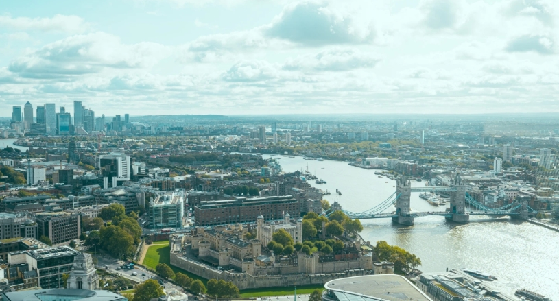 london aerial image hero image